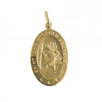 S. Cristoforo ovale Oro