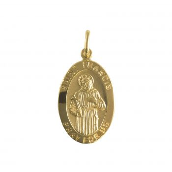San Francesco ovale H22mm Oro