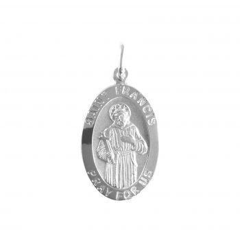 San Francesco ovale H22mm argento 925