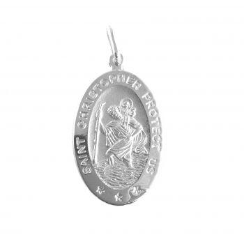 S. Cristoforo ovale Argento