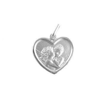 Bacio d'Angeli cuore Ø18mm argento 925