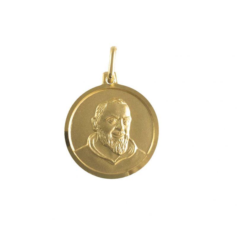 Padre Pio Ø18mm Oro