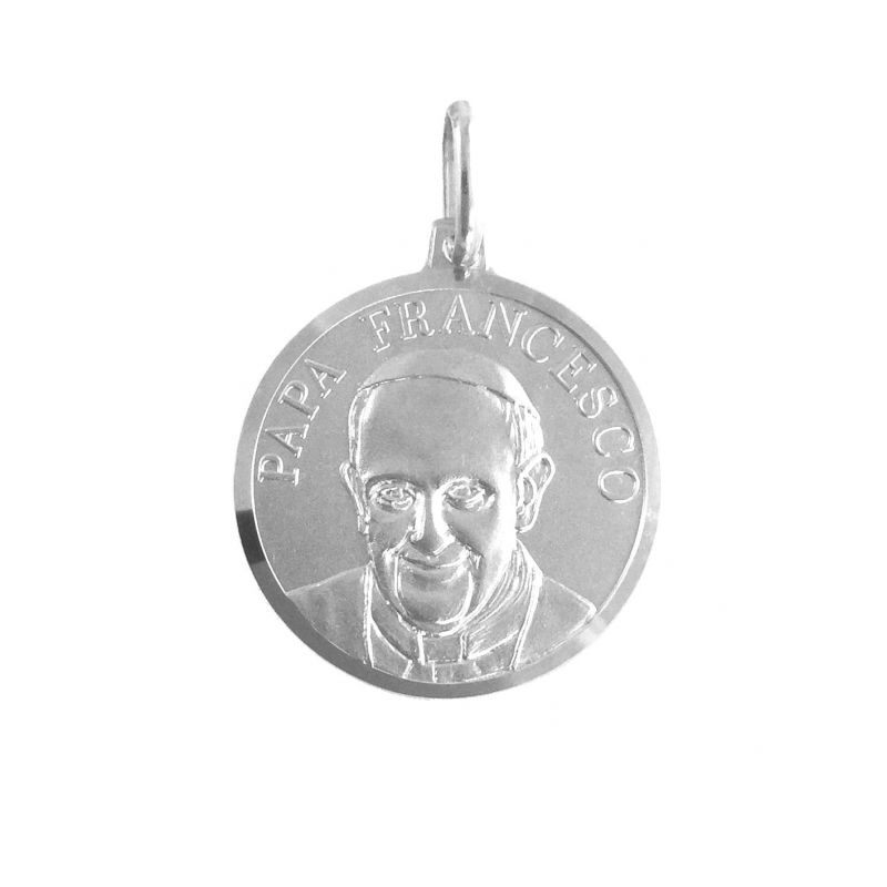 Papa Francesco Ø18mm argento 925