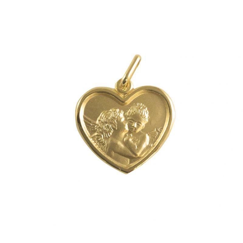 Bacio d'Angeli cuore in Oro