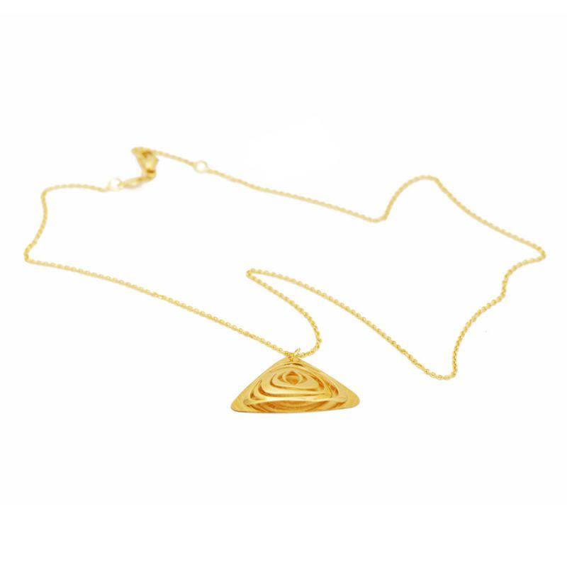 Collana a triangolo in oro giallo