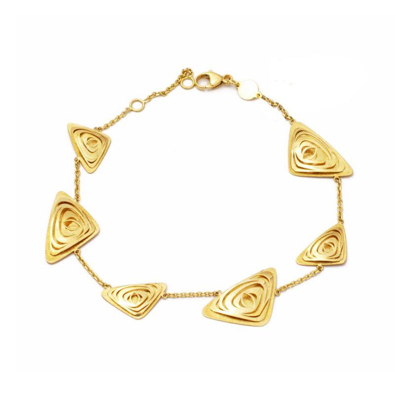 Bracciale con triangoli in oro giallo
