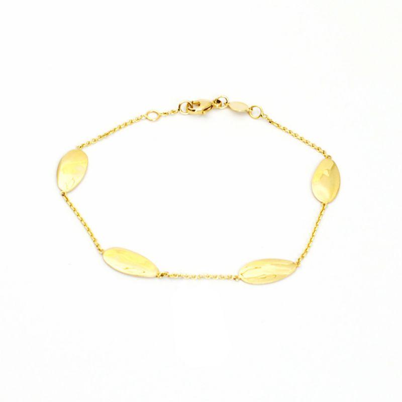 Bracciale con pagliuzze in oro giallo