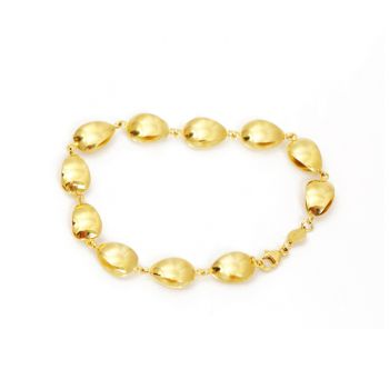 Bracelet with pearls in gold
