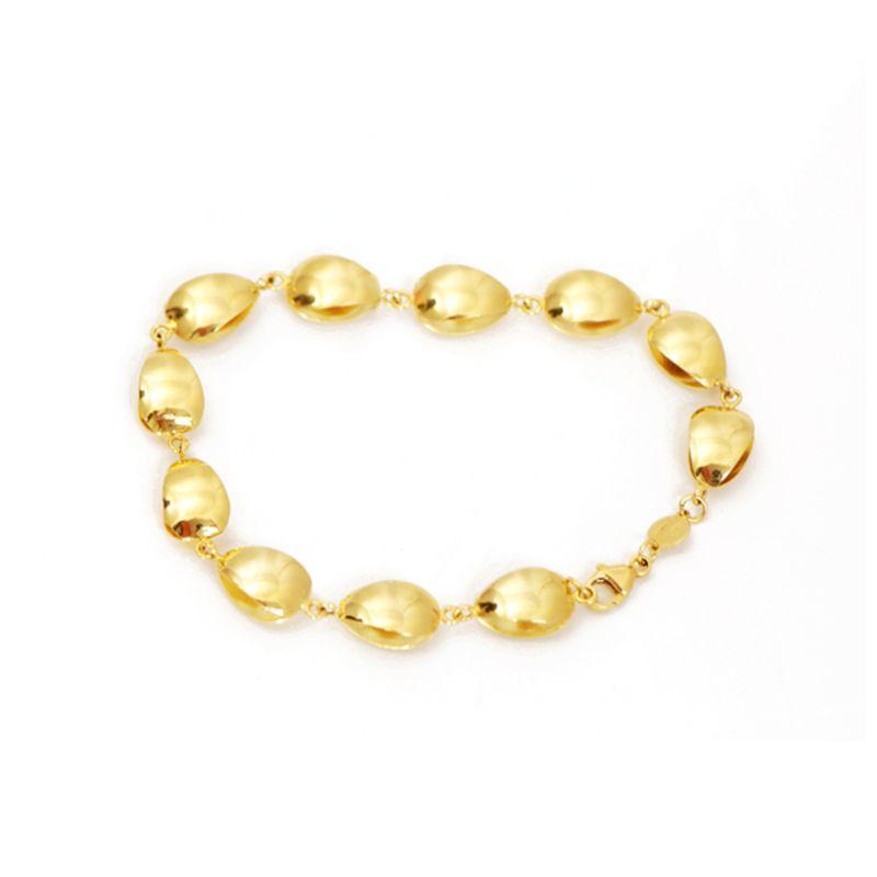 Bracciale a perla in oro giallo