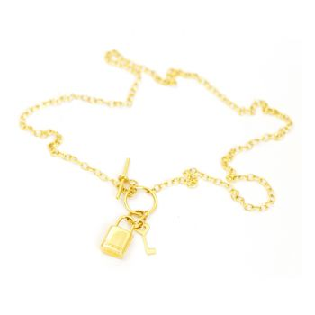 Necklace with lock