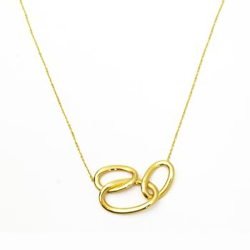 Necklace with three oval rings