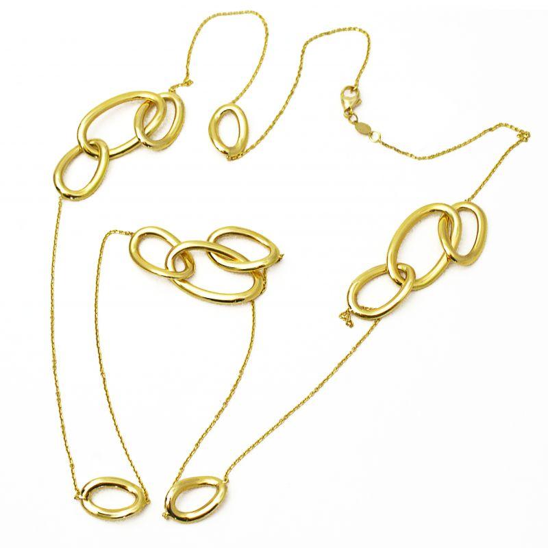 taglia 40 22de9 da3e4 Collana lunga con anelli in oro giallo - Èdoro