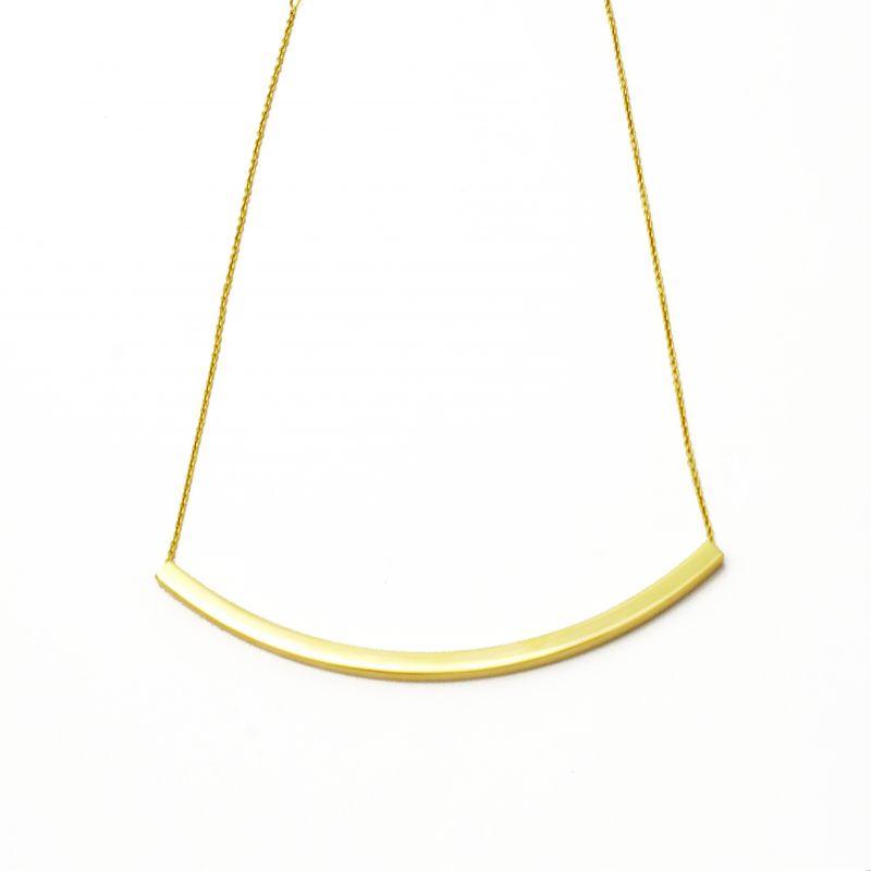 Collana barretta curva in oro giallo