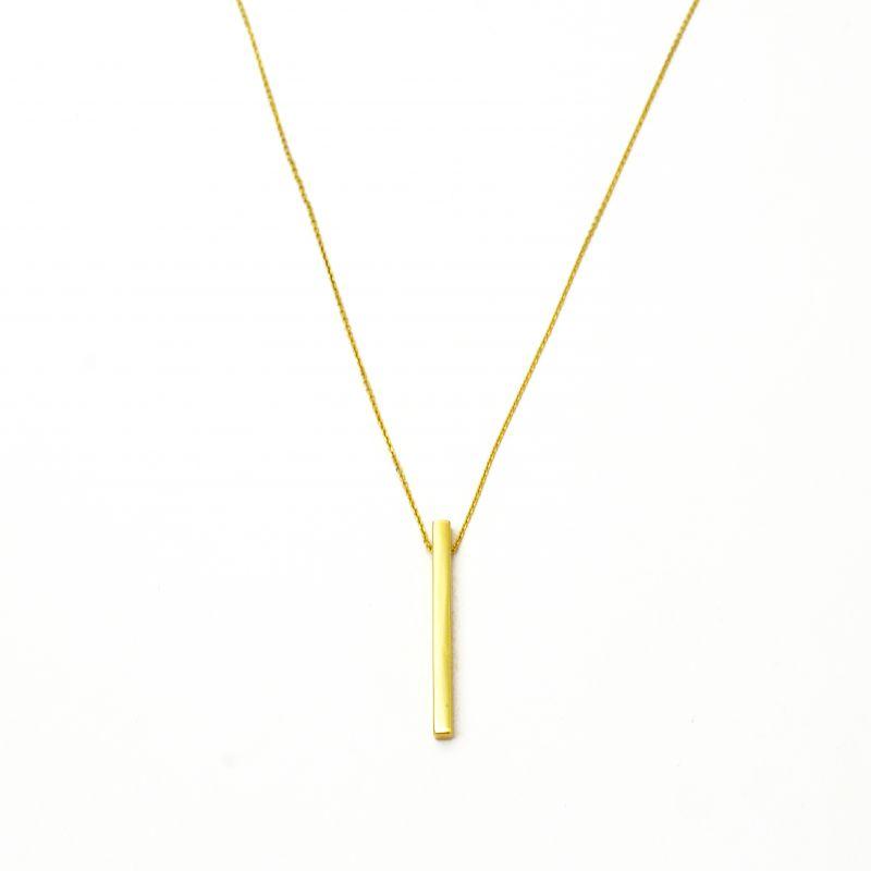 Collana a barretta verticale in oro giallo