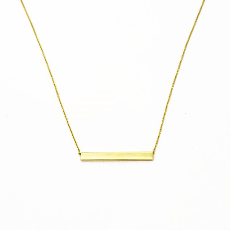 Collana a barretta orizzontale in oro giallo