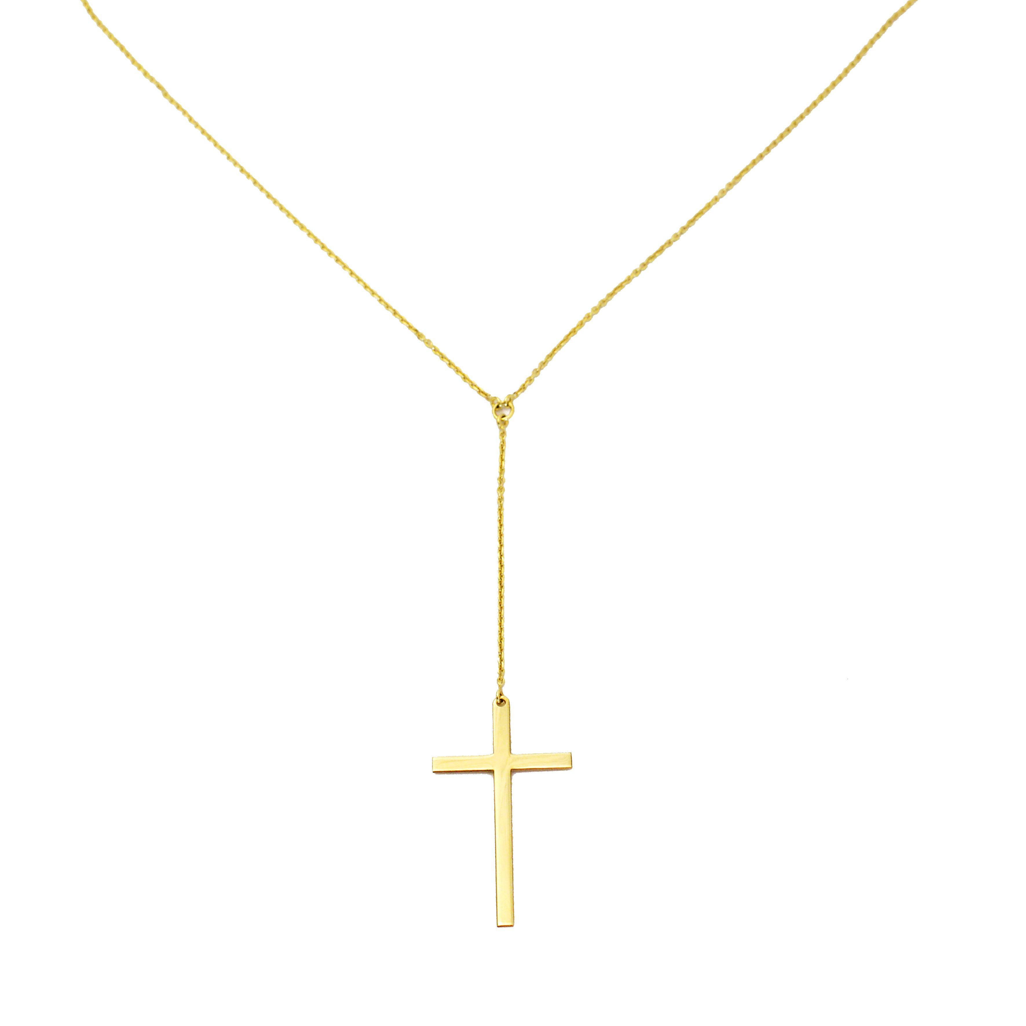 Collana Con Croce In Oro Giallo èdoro