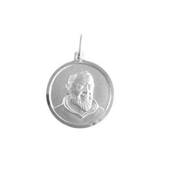 Padre Pio Ø18mm argento 925